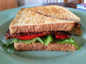 Tempeh lettuce and tomato