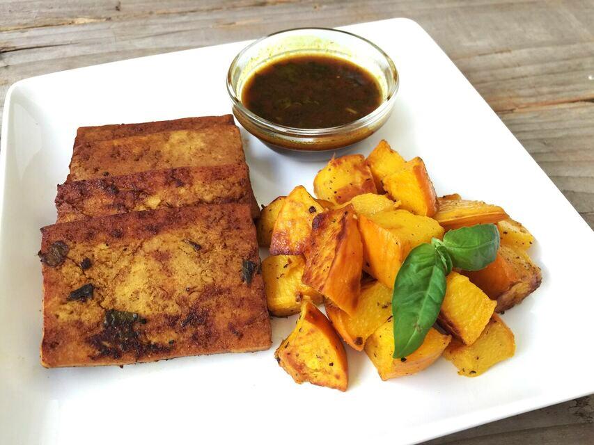 Thai baked tofu