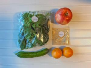 Green Blender Cool as a Cucumber ingredients