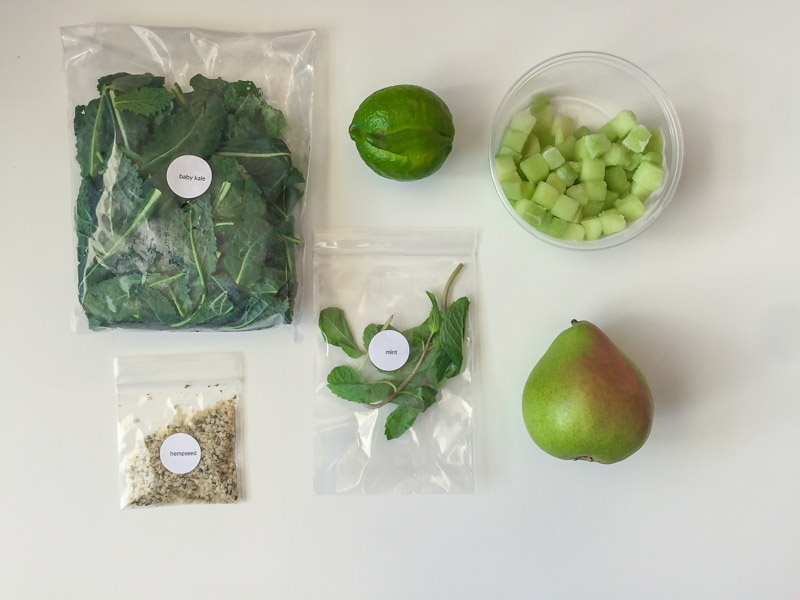 Green Blender Honey Lime Refresh ingredients