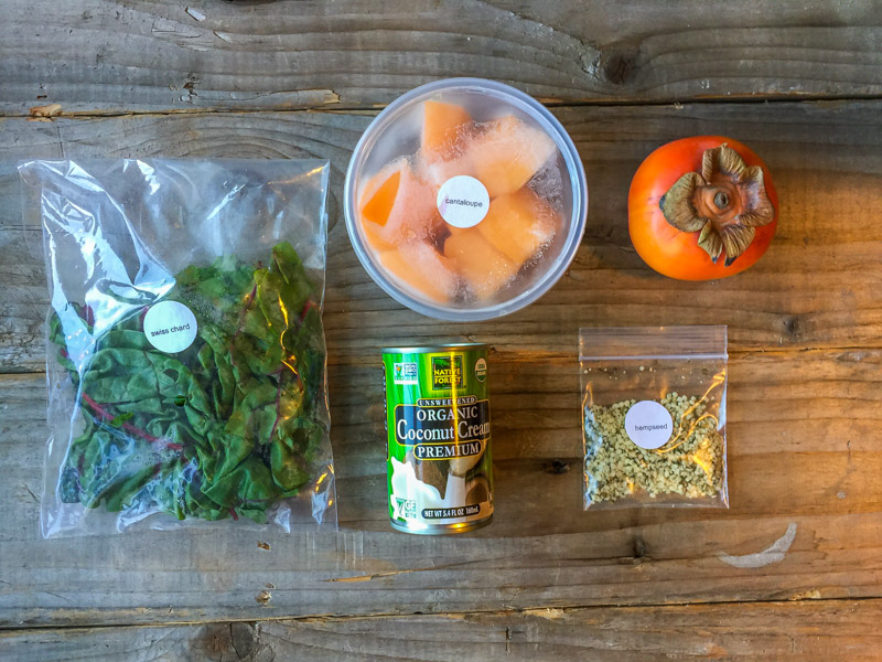Green Blender Persimmon Coconut ingredients