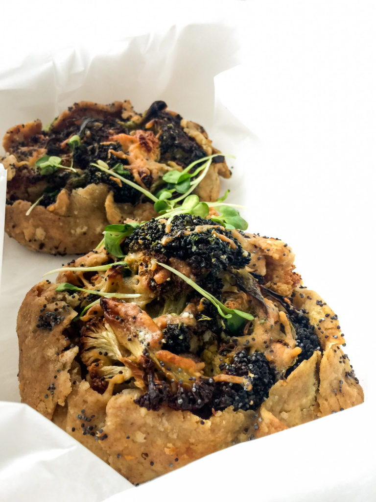 Broccoli cauliflower tart