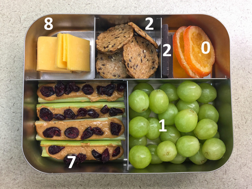 Fire ants bento with protein values