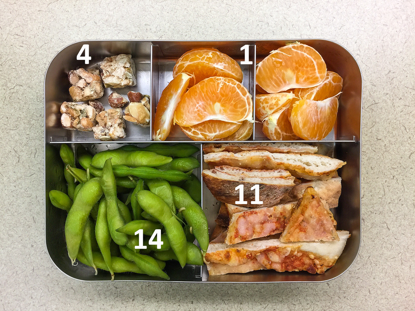 Pizza please bento with protein values
