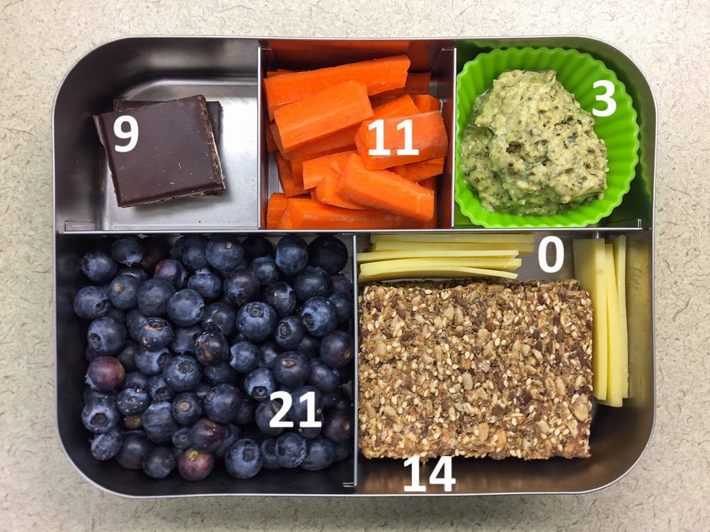 Blueberry Bento with carbohydrate
