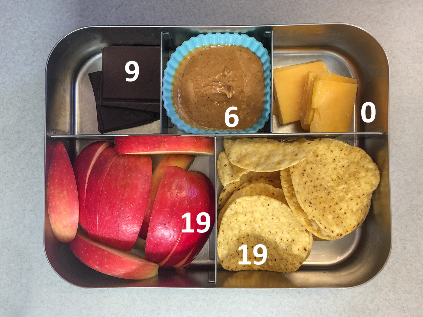 Chips and cheese bento with carbohydrate