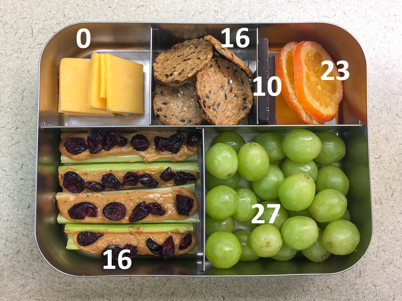 Fire ants on a log bento with carbohydrate
