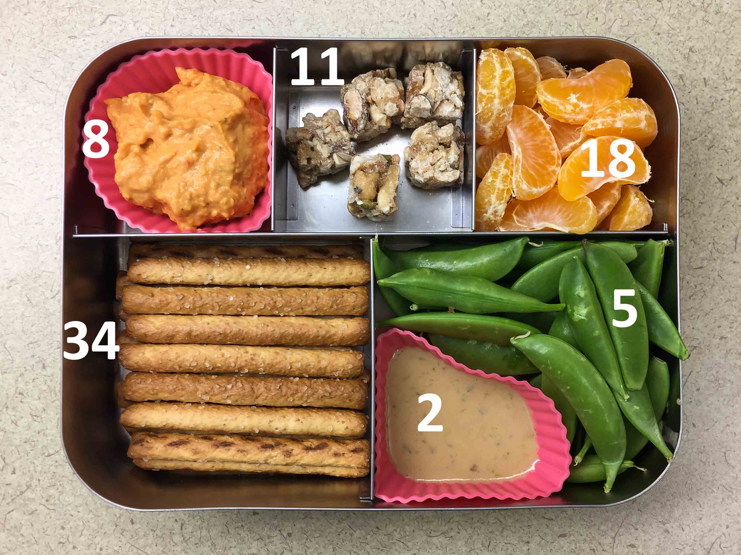 Peas and Pretzels Bento with Carbohydrate