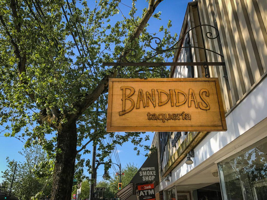 Bandidas Taqueria Sign