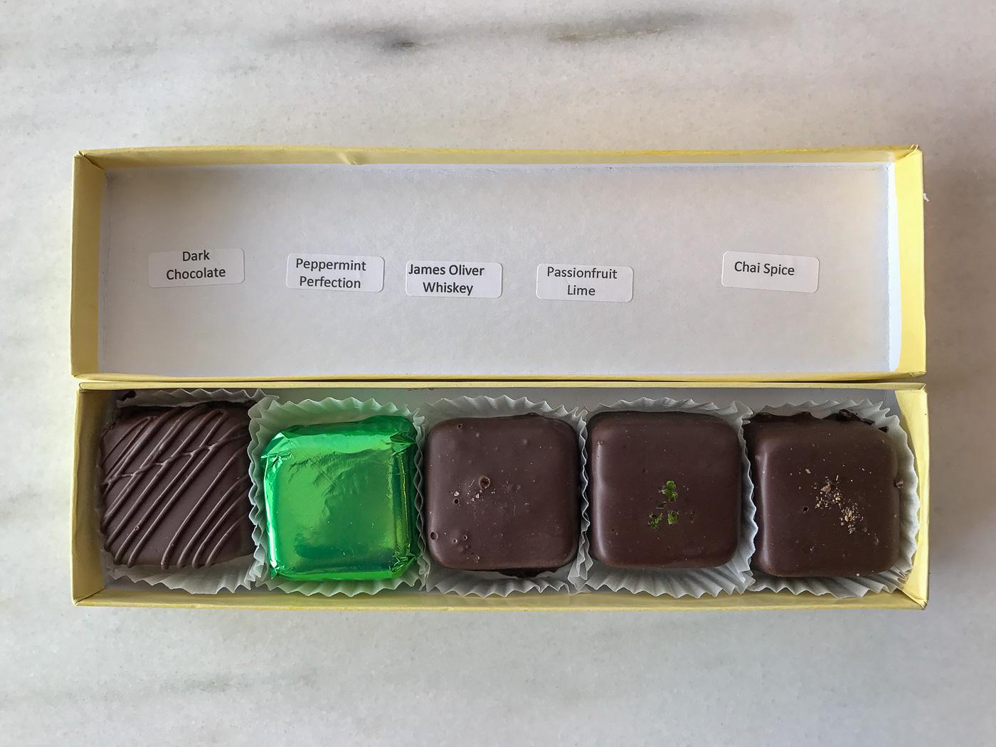 Missionary Chocolates 5-piece box custom