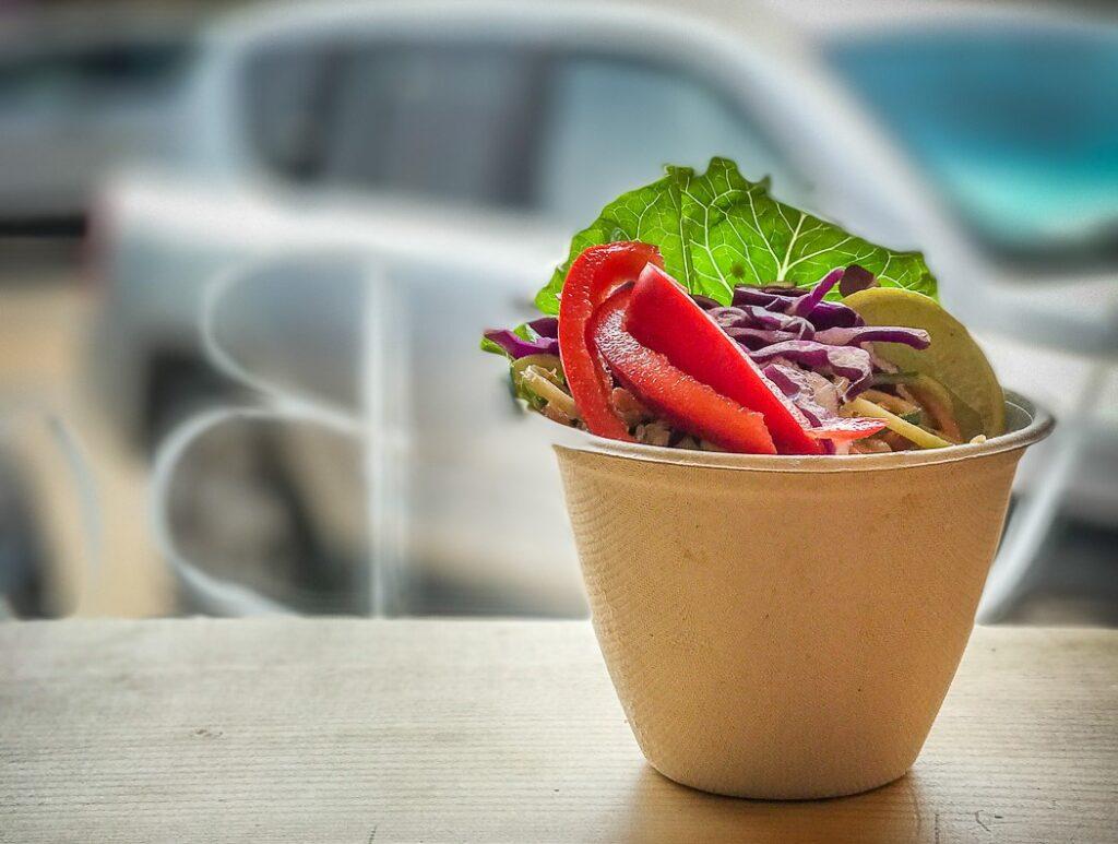 bowl full of colorful veggie salad