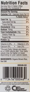 Picture of rice cakes nutrition facts