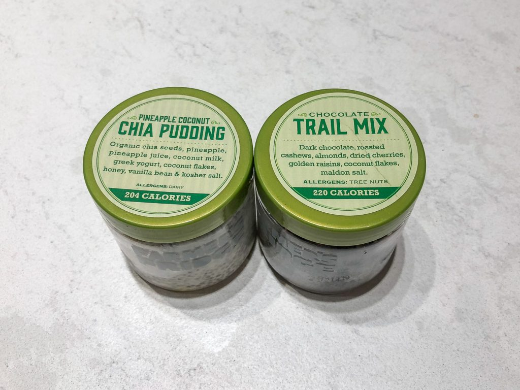 Farmers Fridge Pudding and Trailmix