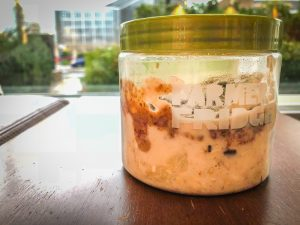 Farmers Fridge Almond Butter Oatmeal Container