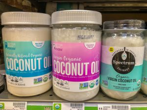 3 jars of coconut oil