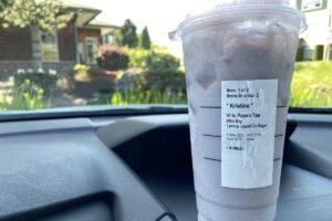 Iced tea with milk from Starbucks