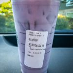 Starbucks cup with purple contents