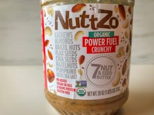 Jar of NuttZo nut and seed butter