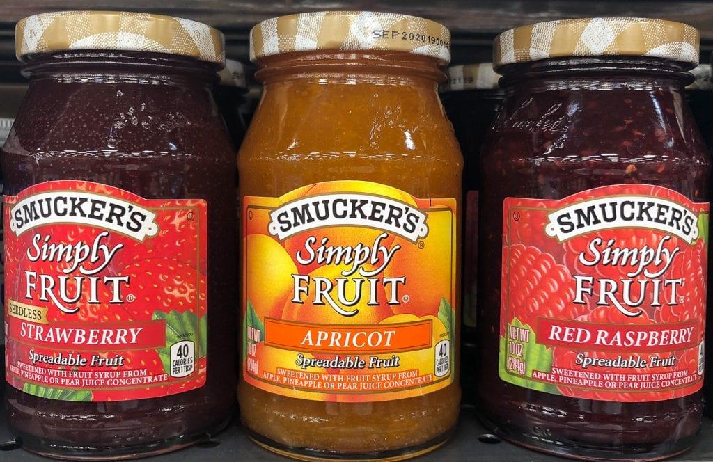 3 jars of all fruit jam