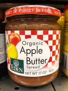 A jar of apple butter