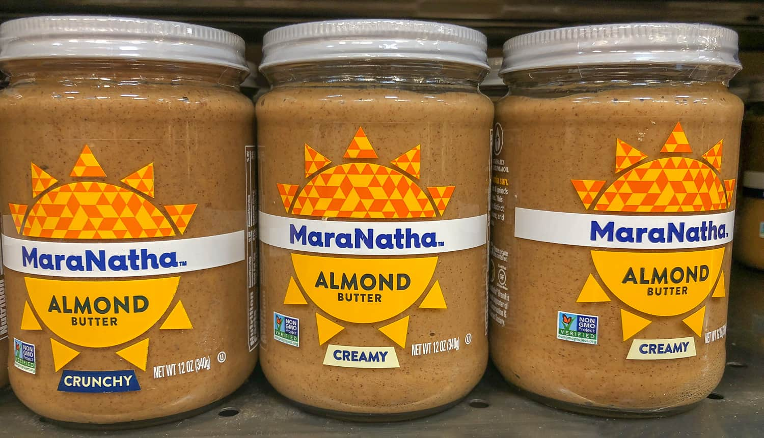 3 jars of almond butter