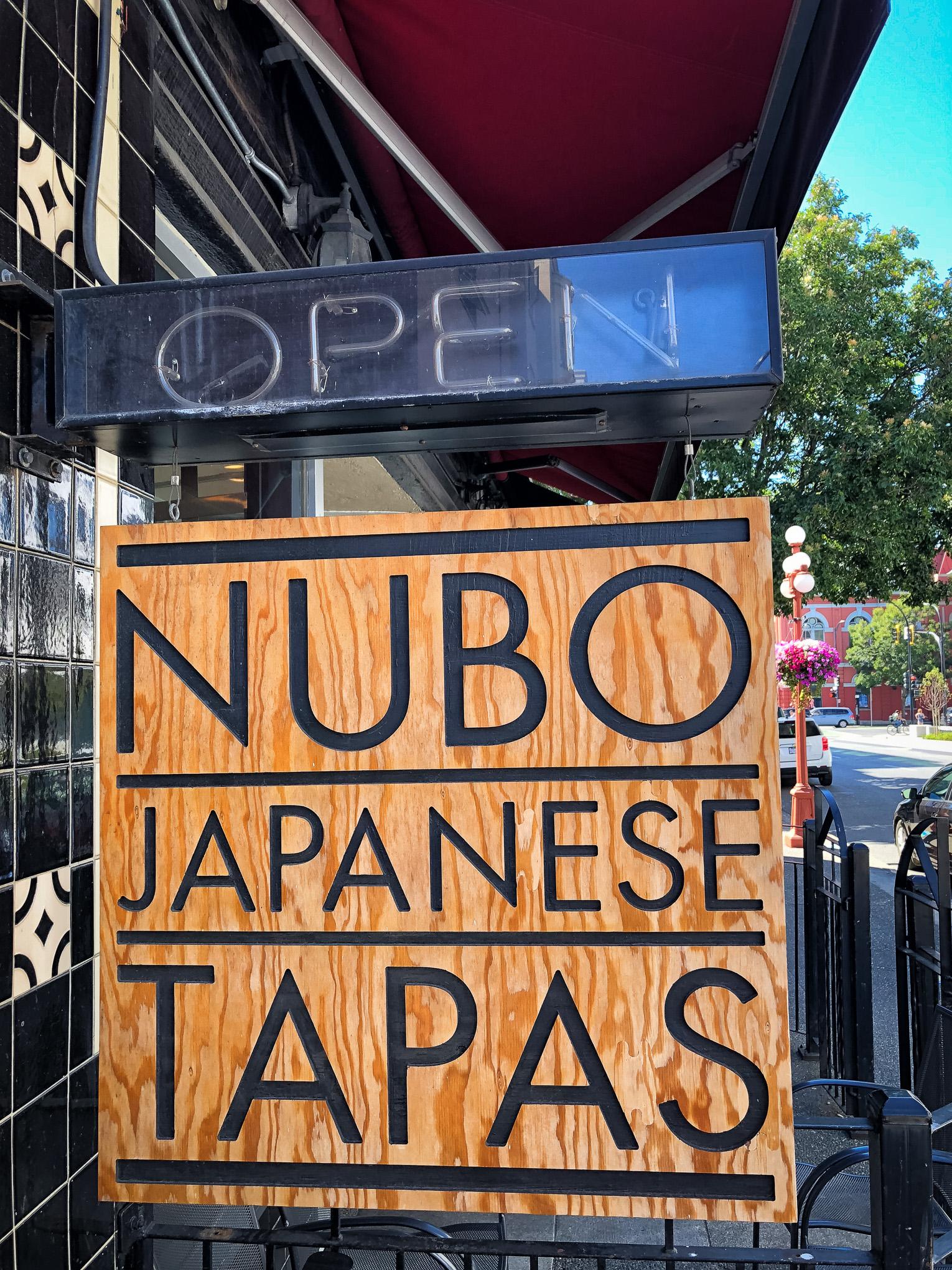 Sign for tapas restaurant