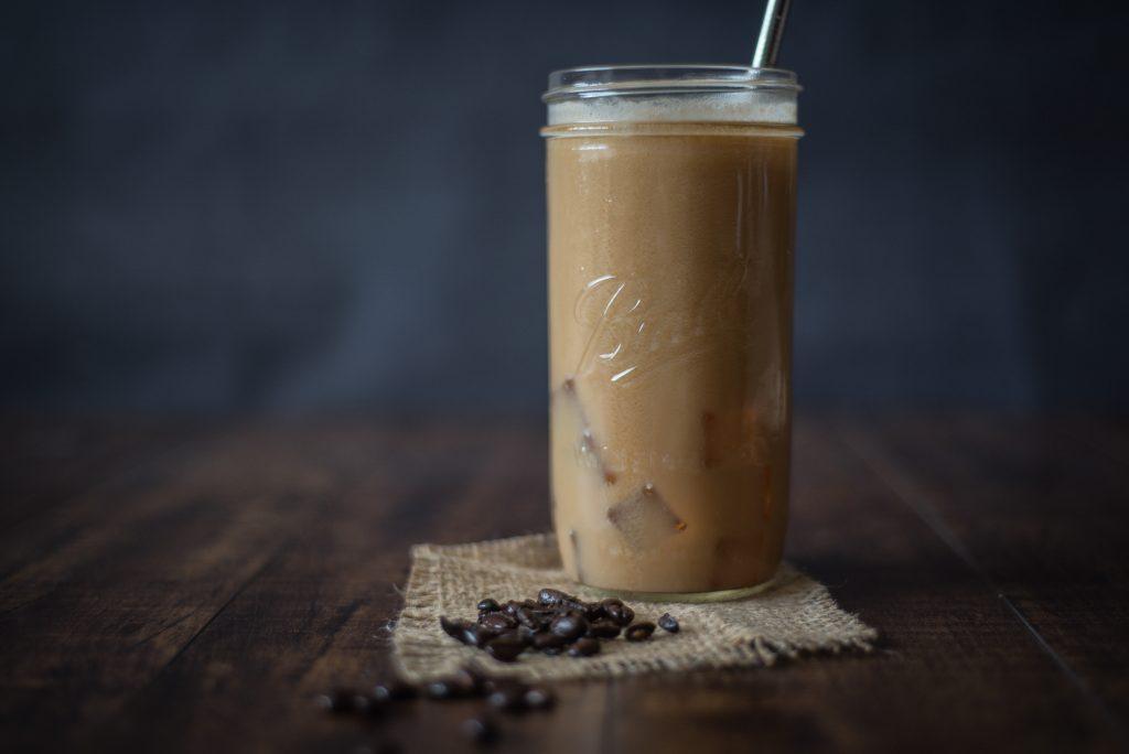 Glass of iced coffee