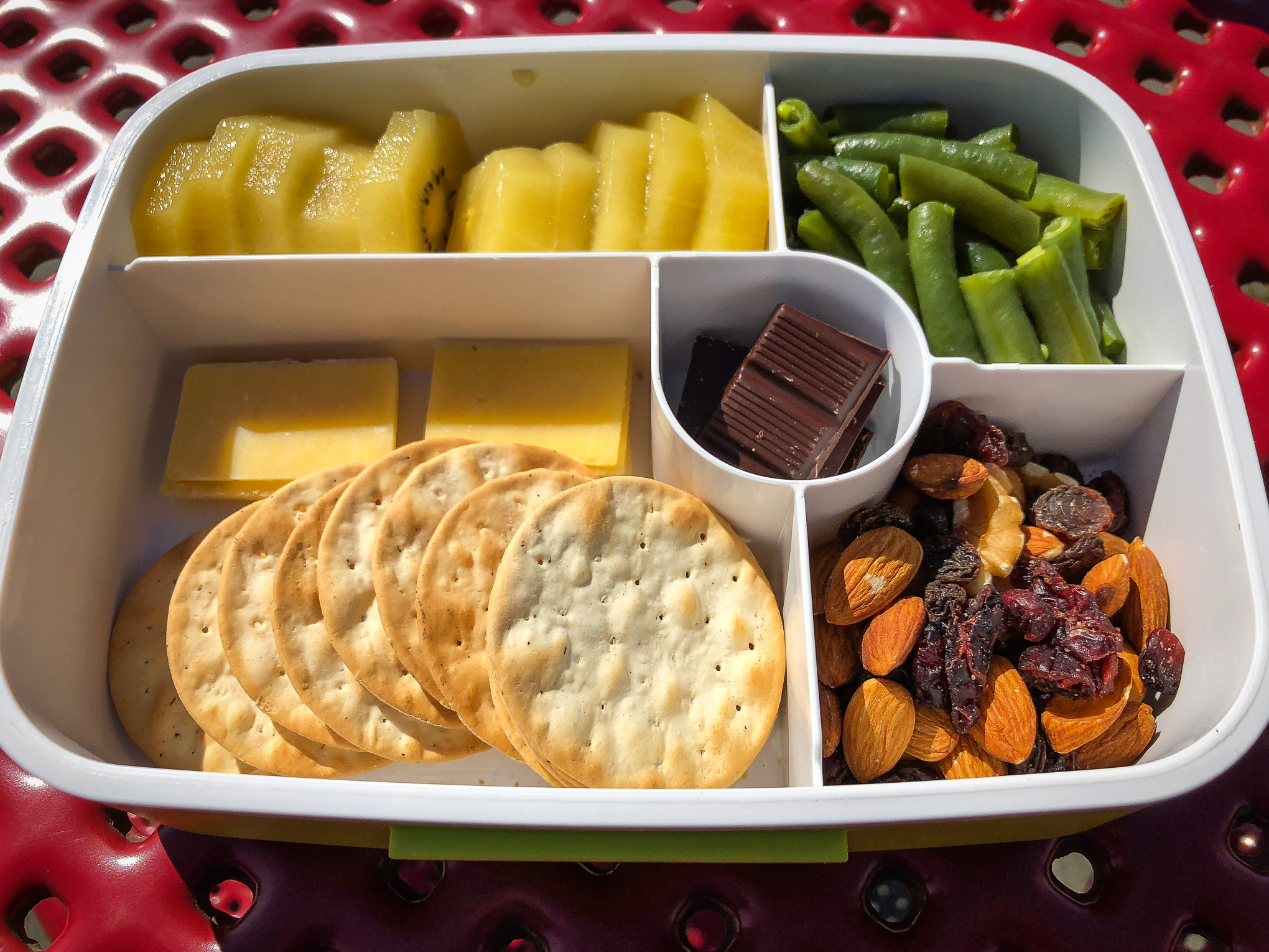 Bento box filled with fruit and vegetables