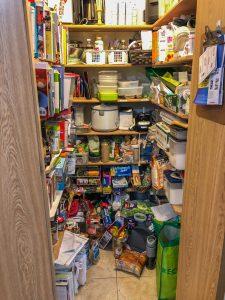 A messy pantry