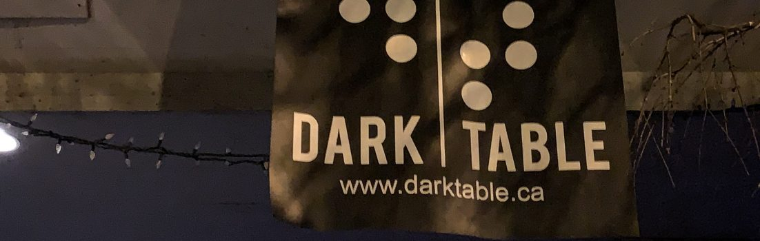 Dark Table restaurant sign Vancouver