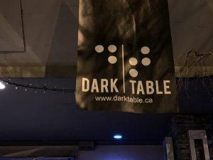 Dark Table restaurant sign Vancouver