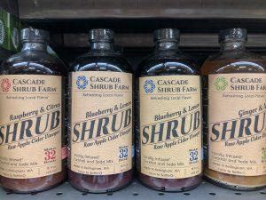 4 bottles of shrub syrup