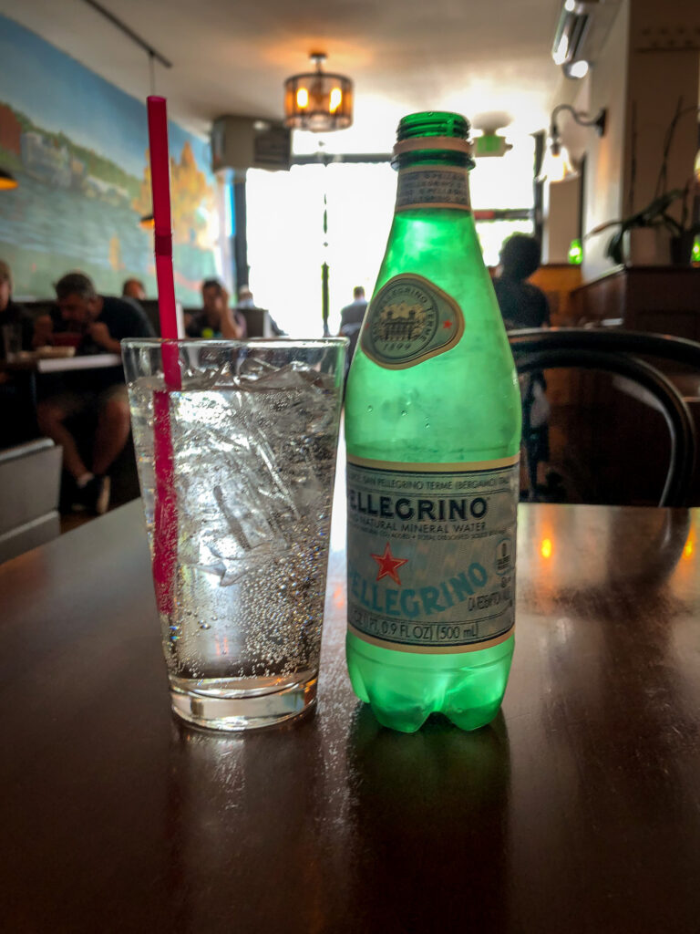 Bottle of sparkling water