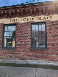 Theo Chocolate Factory sign