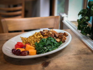 Plate of tofu scramble