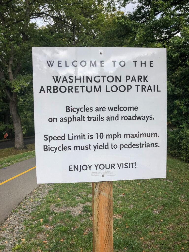 Sign at Washington Park Arboretum