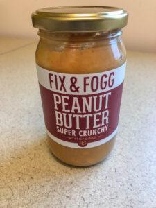 Jar of Fix and Fogg peanut butter