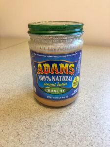 Jar of Adam's Natural peanut butter