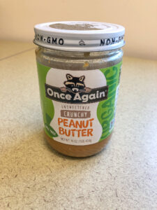 Jar of Once Again peanut butter
