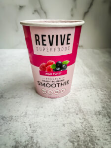 Paper smoothie cup acai