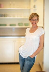 Kristine Richardson in her kitchen