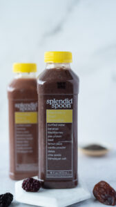 Two bottles of fruit smoothie