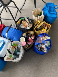 insulated bags of groceries