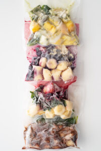 Frozen smoothie packs bags