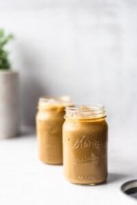 Two jars of molasses milk