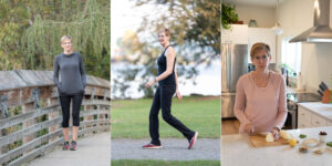 3 outtake photos of a woman side by side