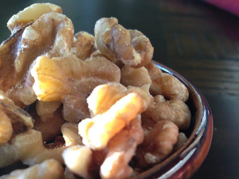 Small bowl of walnuts