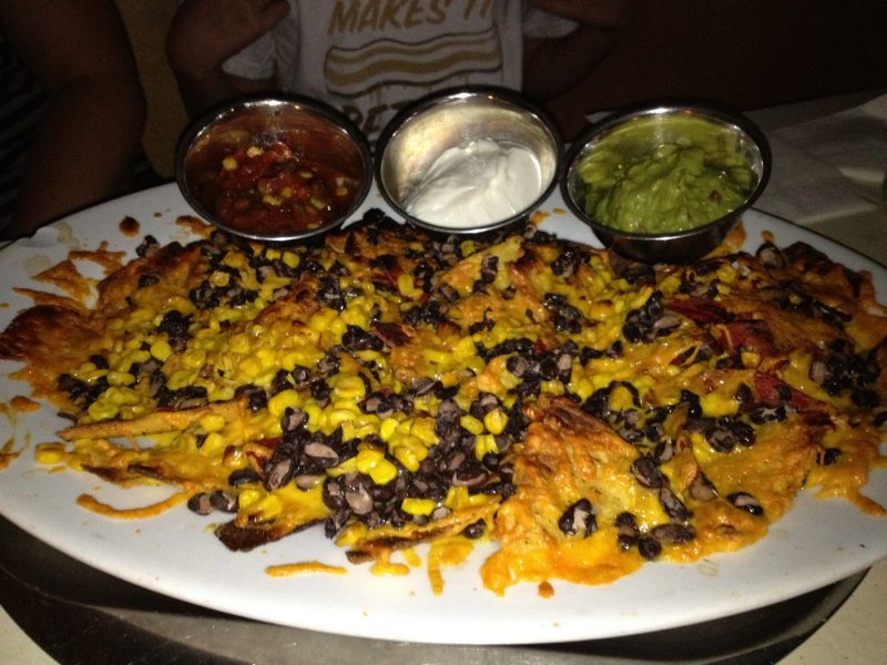 Big plate of nachos