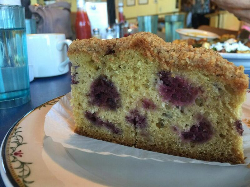 Old Town Cafe Marionberry Sour cream coffee cake