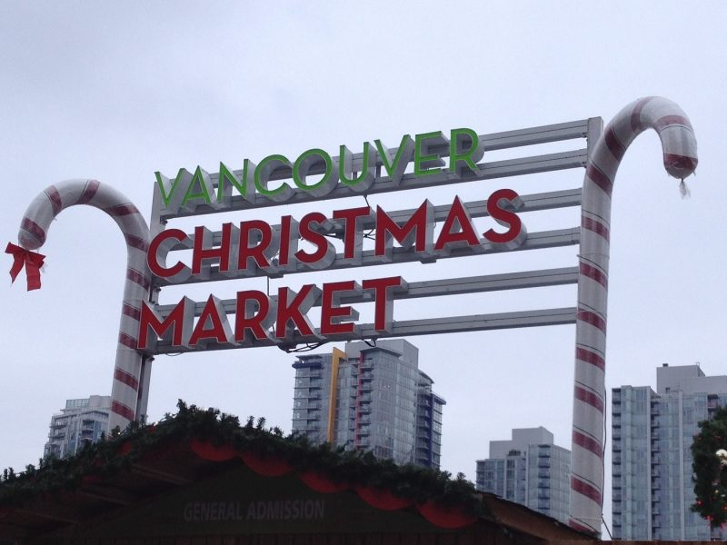 The Vancouver Christmas Market sign